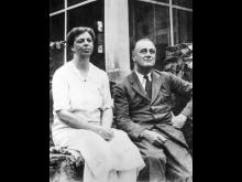Franklin D. Roosevelt med hustrun Eleanor