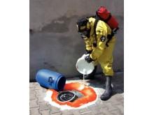Granulat - en kostandseffektiv absorbent för hantering av kemikalier