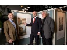 Ausstellung mit ansichten über das alte München in der Kundenhalle der Stadtsparkasse München.20171107_altmuenchen_1
