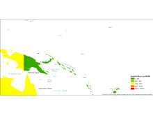Tsunami risikokart MUSD Stillehavet