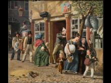 Wilhelm Marstrand, 'En flyttedagsscene', 1831. Nivaagaards Malerisamling