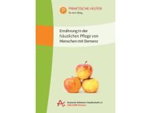 """Cover zur Broschüre """"Ernährung in der häuslichen Pflege von Menschen mit Demenz"""""""