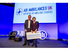 Cheque giving to Air Ambulance UK
