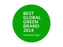 BEST GLOBAL GREEN BRAND 2014