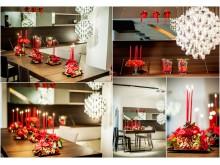 Klassiskt collage med julstjärnor 1