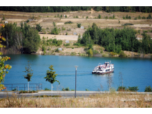 Zwenkauer See während der Flutung im Jahr 2012