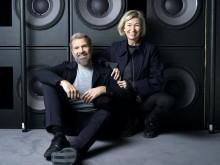 Henrik og Louise Obel foran Dolby Atmos højttalere i BIG BIO i Nordhavn