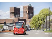 Электробусы без водителя курсируют по Осло
