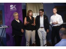 Presskonferens i Almedalen om Northvolts etablering.