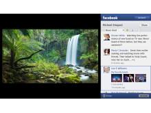 FacebookonBRAVIA