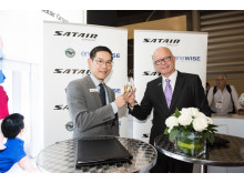 Cheers to a great new deal between Satair Group and Pratt & Whitney