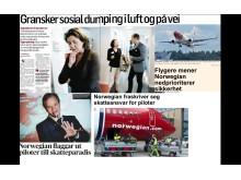 Feilaktige påstander i media om Norwegian