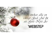 God Jul & ett Gott Nytt År från oss på Webstep