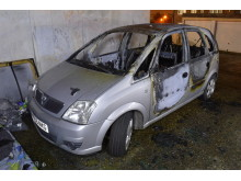 Burnt out suspect vehicle