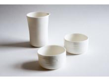 Del av servis av keramiker Lena Willhammar för Daniel Berlin krog