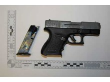 Firearm recovered from Kagbo-Clarke