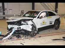 Mazda MX-30 - Mobile Progressive Deformable Barrier test 2020 - after crash