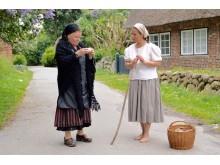 Living History Sylt: Mutter und Tochter im Takerwai