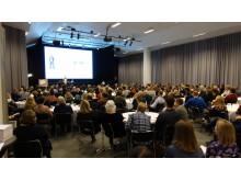 Nära 300 deltagare hade kommit till Skogslänet Västerbottens och Skogsnolias konferens om normkritik i skogen.