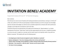 Inbjudan och program Beneli Academy 23-24 november 2015.