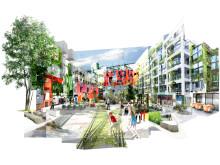 Varvsstaden bildar en framtida länk mellan Västra Hamnen och Malmös stadskärna.