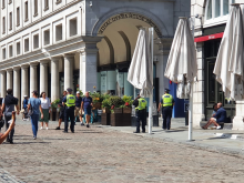Project Servator officers in Covent Garden