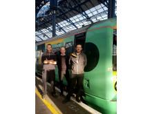 Rowathon trio - from left - Richard Brown, Gary Harman and Richard Quinn