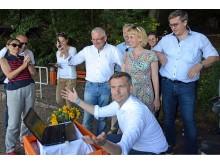 Sächsischer Staatsminister Martin Dulig aktiviert muldenradweg.de