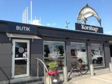 Korshags delikatessbutik i Falkenberg