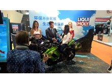 Interviewing ...on a motorbike