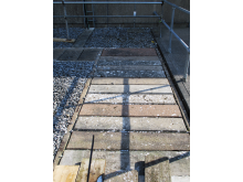 Previously installed concrete trench access covers had begun to corrode