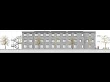 STRABAG, Visualisierung KLW-Unterkunft, Bebra