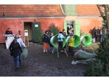 juletræssalg på Frederikssund Museum_Færgegården. Kredit ROMU