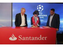 Unterzeichnung Sponsorenvertrag Santander UEFA Champions League