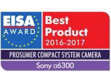 EUROPEAN_PROSUMER_COMPACT_SYSTEM_CAMERA_2016-2017_Sony_Alpha 6300_Logo_mit_Shadow