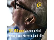 360 Millionen Menschen sind weltweit von Hörverlust betroffen. WHA Resolution vom 31. Mai 2017 hilft.