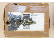 Amazon fire damaged package