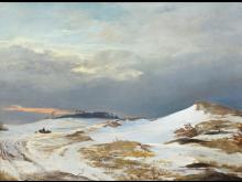 J. Th. Lundbye, Vinterlandskab i nordsjællandsk karakter, 1841. Nivaagaards Malerisamling.jpg