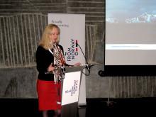 Renate Larsen under sjømatseminaret i Madrid