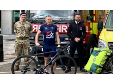 Major Mark Winstanley with Chief Superintendent Roy Smith and former Flying Squad DS Neil Turner (co-founder of the Bluelight Cycling Club)