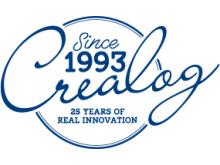 Das CreaLog-Logo zum 25-jährigen Jubiläum des Unternehmens