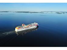 Die Baltic Queen auf dem Weg von Stockholm nach Tallinn