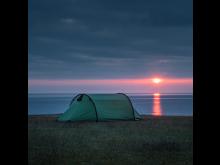 Tälta med utsikt under Hela Skåne sover ute
