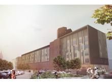 S:t Görans sjukhus, ny byggnad  blick mot öster