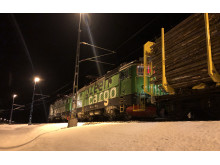 Green Cargo transporterar för Holmen