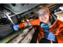 Melissa Millington, a mechanical and electrical engineering apprentice at Go North East
