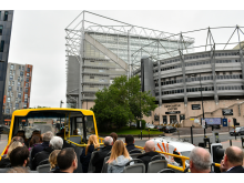 Go North East's NewcastleGateshead Toon Tour outside Newcastle United's St James' Park