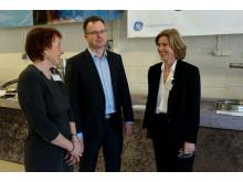 Ordfører i Kongsberg Kari Anne Sand og konsernsjef i Siemens AS Anne Marit Panengstuen