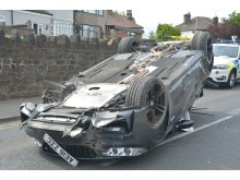 Hickman's car following police chase