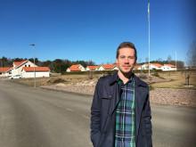 Kim Olsson, mark- & exploateringsingenjör, i Sörskogen